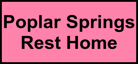 Logo of Poplar Springs Rest Home, Assisted Living, Star, NC