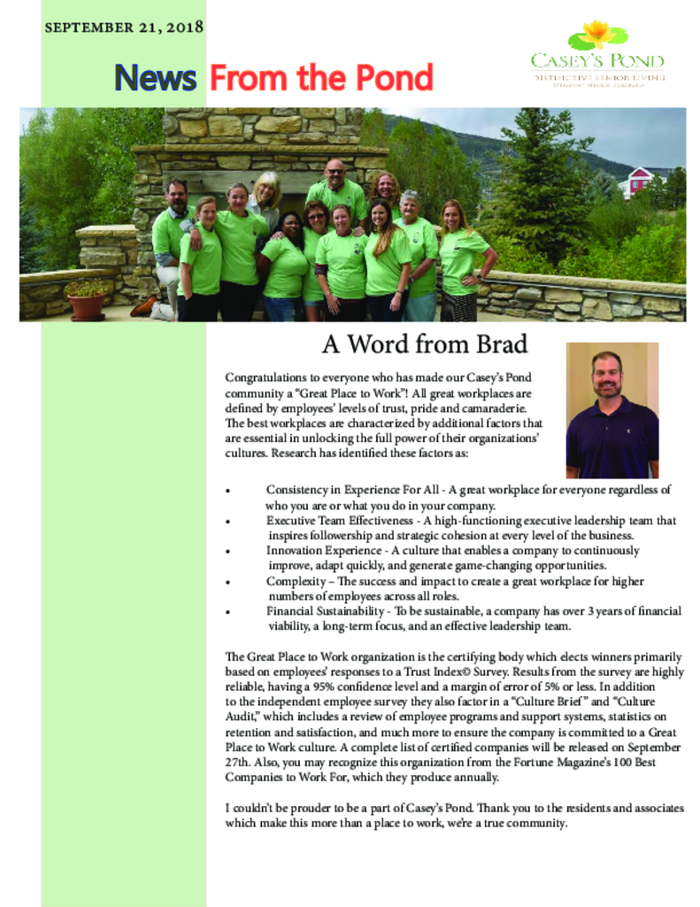 PDF Newsletter of Casey's Pond, Assisted Living, Nursing Home, Independent Living, CCRC, Steamboat Springs, CO - 29737-C01743^Resident_Staff_Newsletter_Sept