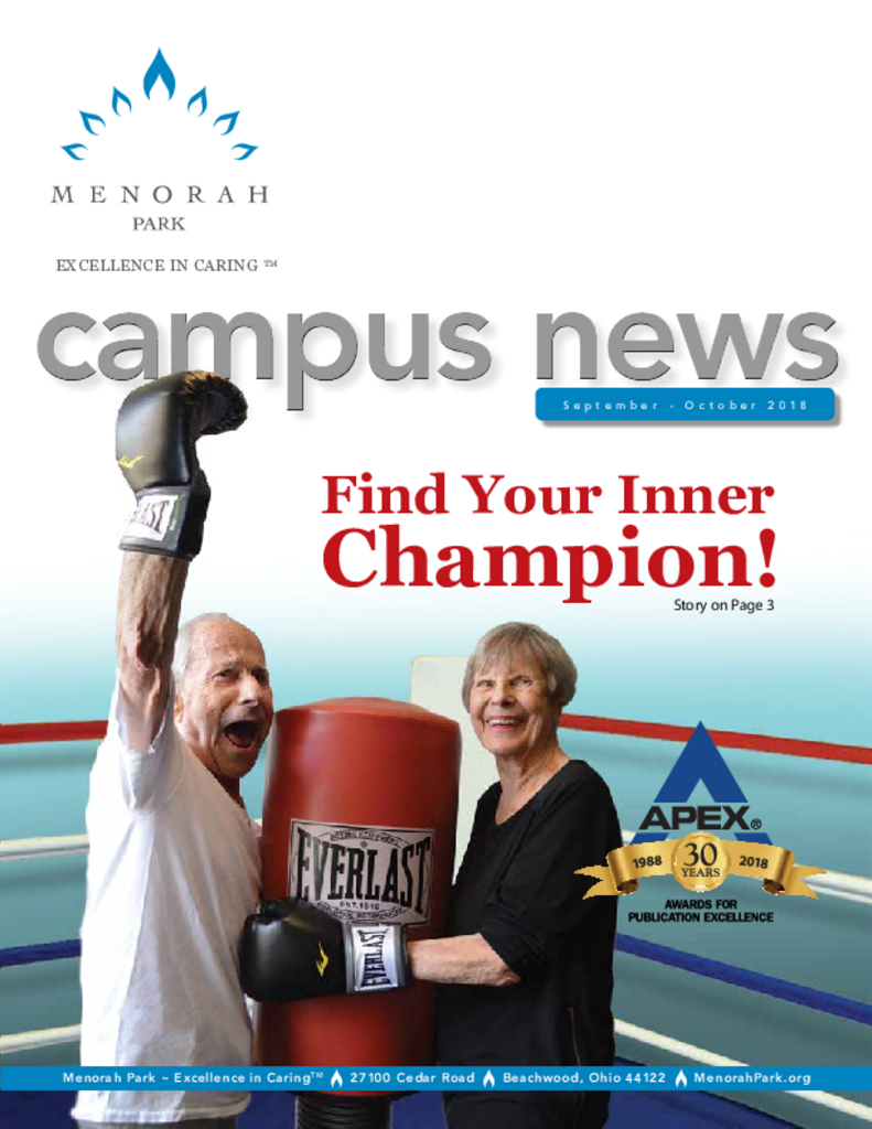 PDF Newsletter of Menorah Park, Assisted Living, Nursing Home, Independent Living, CCRC, Cleveland, OH - 29841-C00440^mp-campus-newssept-oct18web^12_pg