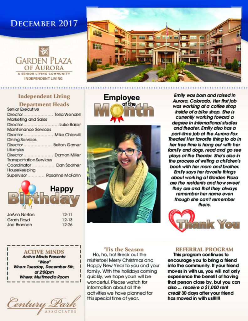 PDF Newsletter of Garden Plaza of Aurora, Assisted Living, Nursing Home, Independent Living, CCRC, Aurora, CO - 4341-C00818^y3g2qo-R27956^3_pg