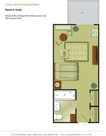 Floorplan of Town & Country Manor, Assisted Living, Nursing Home, Independent Living, CCRC, Santa Ana, CA 1