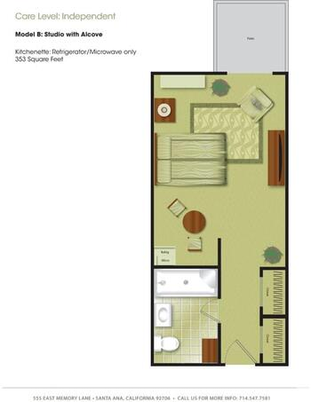 Floorplan of Town & Country Manor, Assisted Living, Nursing Home, Independent Living, CCRC, Santa Ana, CA 2