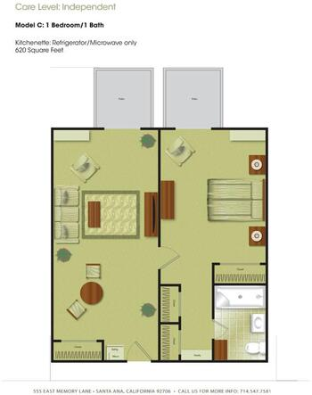 Floorplan of Town & Country Manor, Assisted Living, Nursing Home, Independent Living, CCRC, Santa Ana, CA 3