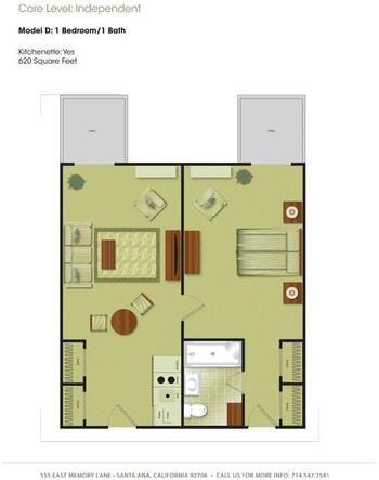 Floorplan of Town & Country Manor, Assisted Living, Nursing Home, Independent Living, CCRC, Santa Ana, CA 4