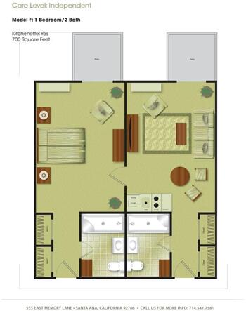 Floorplan of Town & Country Manor, Assisted Living, Nursing Home, Independent Living, CCRC, Santa Ana, CA 5