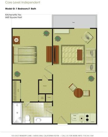 Floorplan of Town & Country Manor, Assisted Living, Nursing Home, Independent Living, CCRC, Santa Ana, CA 6