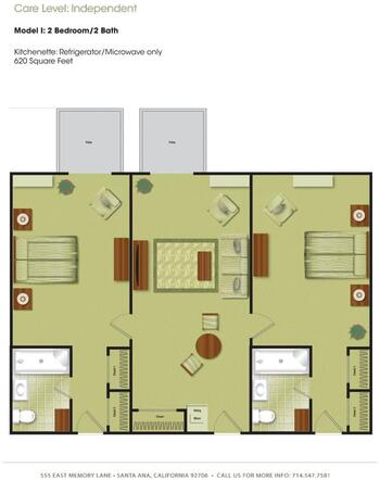 Floorplan of Town & Country Manor, Assisted Living, Nursing Home, Independent Living, CCRC, Santa Ana, CA 8