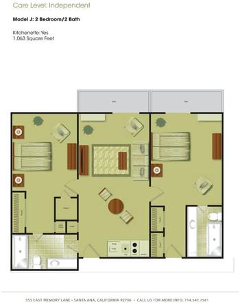 Floorplan of Town & Country Manor, Assisted Living, Nursing Home, Independent Living, CCRC, Santa Ana, CA 9