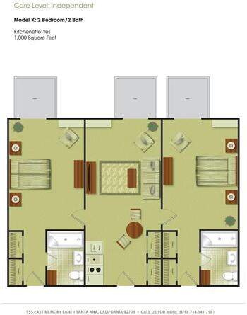 Floorplan of Town & Country Manor, Assisted Living, Nursing Home, Independent Living, CCRC, Santa Ana, CA 10