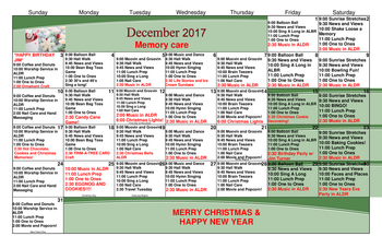 Activity Calendar of Grace Pointe Greeley, Assisted Living, Nursing Home, Independent Living, CCRC, Greeley, CO 2