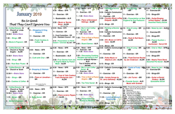 Activity Calendar of Grace Pointe Greeley, Assisted Living, Nursing Home, Independent Living, CCRC, Greeley, CO 3