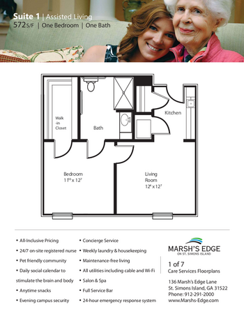 Floorplan of Marsh Edge, Assisted Living, Nursing Home, Independent Living, CCRC, Saint Simons Island, GA 6