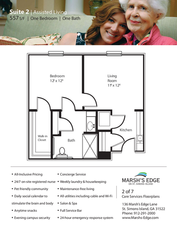 Floorplan of Marsh Edge, Assisted Living, Nursing Home, Independent Living, CCRC, Saint Simons Island, GA 7
