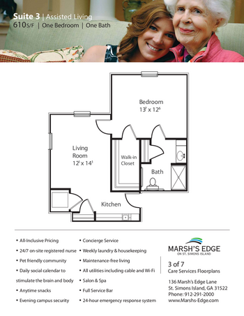 Floorplan of Marsh Edge, Assisted Living, Nursing Home, Independent Living, CCRC, Saint Simons Island, GA 8