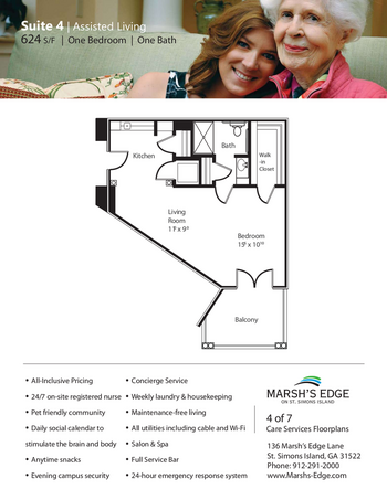 Floorplan of Marsh Edge, Assisted Living, Nursing Home, Independent Living, CCRC, Saint Simons Island, GA 9