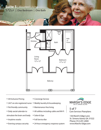Floorplan of Marsh Edge, Assisted Living, Nursing Home, Independent Living, CCRC, Saint Simons Island, GA 10