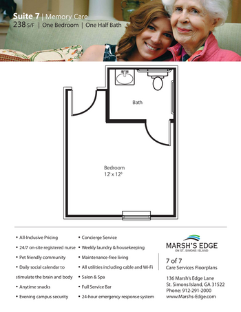 Floorplan of Marsh Edge, Assisted Living, Nursing Home, Independent Living, CCRC, Saint Simons Island, GA 15