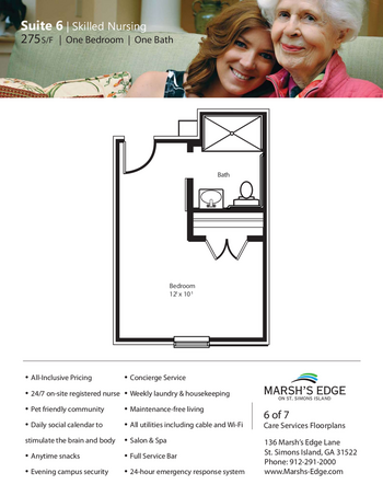 Floorplan of Marsh Edge, Assisted Living, Nursing Home, Independent Living, CCRC, Saint Simons Island, GA 16