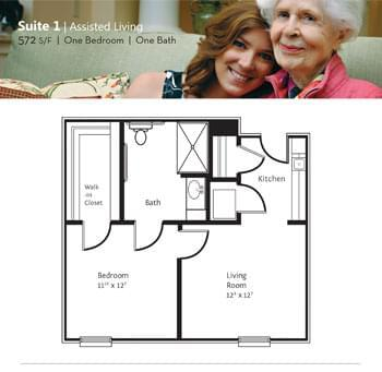 Floorplan of Marsh Edge, Assisted Living, Nursing Home, Independent Living, CCRC, Saint Simons Island, GA 1