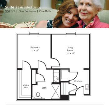 Floorplan of Marsh Edge, Assisted Living, Nursing Home, Independent Living, CCRC, Saint Simons Island, GA 2