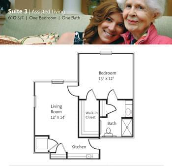 Floorplan of Marsh Edge, Assisted Living, Nursing Home, Independent Living, CCRC, Saint Simons Island, GA 3
