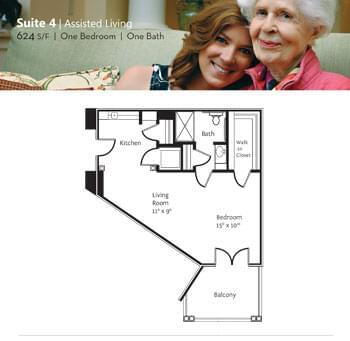 Floorplan of Marsh Edge, Assisted Living, Nursing Home, Independent Living, CCRC, Saint Simons Island, GA 4