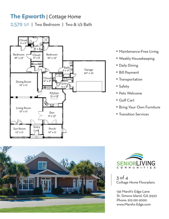 Floorplan of Marsh Edge, Assisted Living, Nursing Home, Independent Living, CCRC, Saint Simons Island, GA 11
