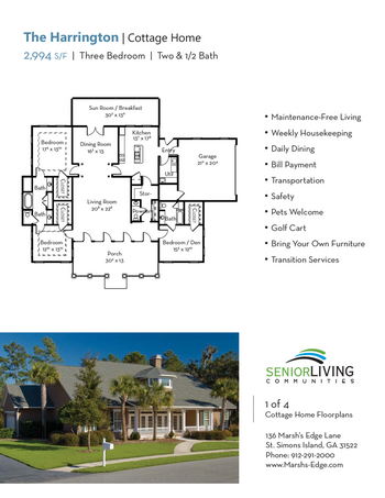 Floorplan of Marsh Edge, Assisted Living, Nursing Home, Independent Living, CCRC, Saint Simons Island, GA 12