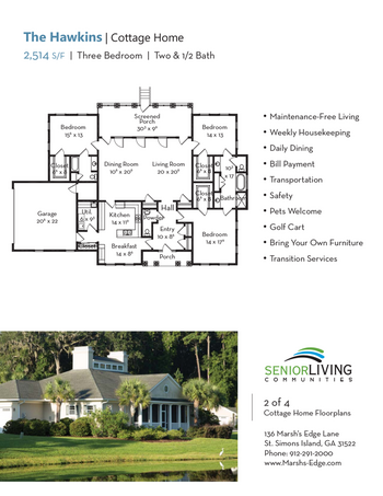 Floorplan of Marsh Edge, Assisted Living, Nursing Home, Independent Living, CCRC, Saint Simons Island, GA 13