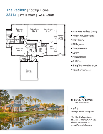 Floorplan of Marsh Edge, Assisted Living, Nursing Home, Independent Living, CCRC, Saint Simons Island, GA 14