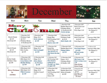 Activity Calendar of Rowley Masonic Community, Assisted Living, Nursing Home, Independent Living, CCRC, Perry, IA 3