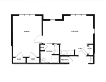 Floorplan of Rowley Masonic Community, Assisted Living, Nursing Home, Independent Living, CCRC, Perry, IA 1