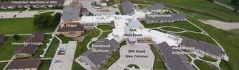 Campus Map of Rowley Masonic Community, Assisted Living, Nursing Home, Independent Living, CCRC, Perry, IA 1