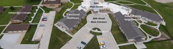 Campus Map of Rowley Masonic Community, Assisted Living, Nursing Home, Independent Living, CCRC, Perry, IA 2