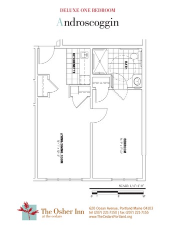 Floorplan of The Cedars Maine, Assisted Living, Nursing Home, Independent Living, CCRC, Portland, ME 2