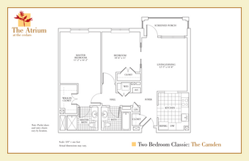 Floorplan of The Cedars Maine, Assisted Living, Nursing Home, Independent Living, CCRC, Portland, ME 3