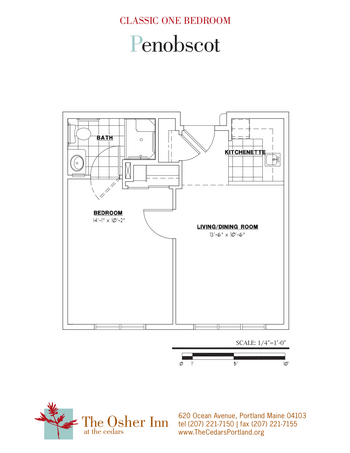 Floorplan of The Cedars Maine, Assisted Living, Nursing Home, Independent Living, CCRC, Portland, ME 7