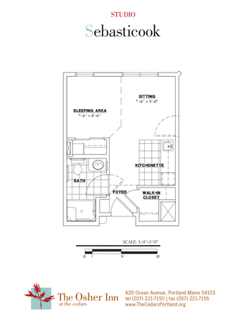 Floorplan of The Cedars Maine, Assisted Living, Nursing Home, Independent Living, CCRC, Portland, ME 8