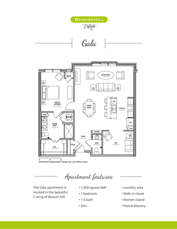 Floorplan of Beacon Hill, Assisted Living, Nursing Home, Independent Living, CCRC, Grand Rapids, MI 3