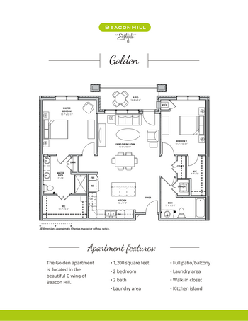 Floorplan of Beacon Hill, Assisted Living, Nursing Home, Independent Living, CCRC, Grand Rapids, MI 4