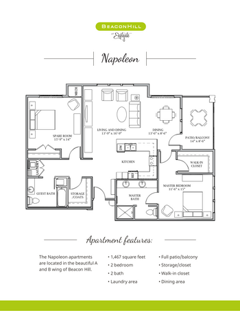 Floorplan of Beacon Hill, Assisted Living, Nursing Home, Independent Living, CCRC, Grand Rapids, MI 6