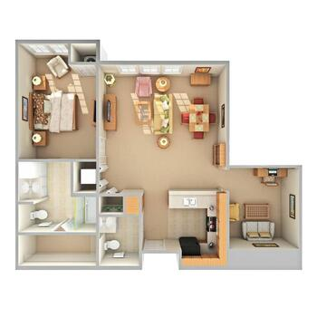 Floorplan of Beacon Hill, Assisted Living, Nursing Home, Independent Living, CCRC, Grand Rapids, MI 8