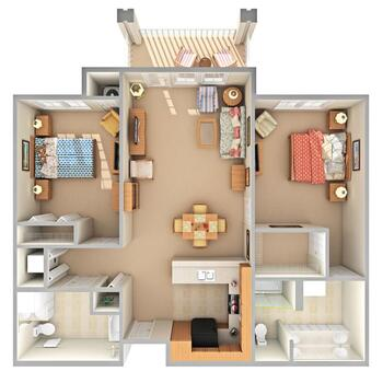 Floorplan of Beacon Hill, Assisted Living, Nursing Home, Independent Living, CCRC, Grand Rapids, MI 10