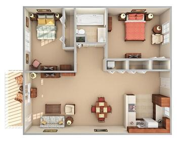 Floorplan of Beacon Hill, Assisted Living, Nursing Home, Independent Living, CCRC, Grand Rapids, MI 11