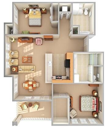 Floorplan of Beacon Hill, Assisted Living, Nursing Home, Independent Living, CCRC, Grand Rapids, MI 12