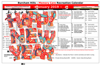 Activity Calendar of Burcham Hills, Assisted Living, Nursing Home, Independent Living, CCRC, East Lansing, MI 6