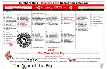 Activity Calendar of Burcham Hills, Assisted Living, Nursing Home, Independent Living, CCRC, East Lansing, MI 7
