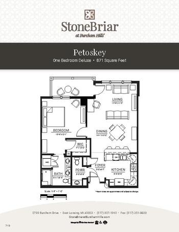 Floorplan of Burcham Hills, Assisted Living, Nursing Home, Independent Living, CCRC, East Lansing, MI 1