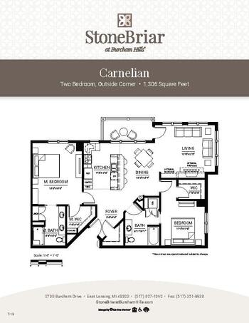 Floorplan of Burcham Hills, Assisted Living, Nursing Home, Independent Living, CCRC, East Lansing, MI 7