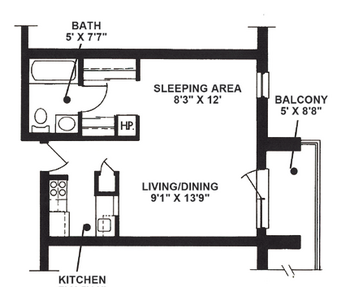 Floorplan of The Highlands at Wyomissing, Assisted Living, Nursing Home, Independent Living, CCRC, Wyomissing, PA 18